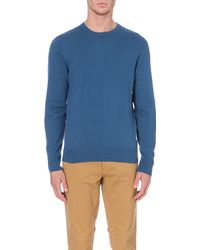 Paul Smith Checked Elbow-patch Jumper - Lyst