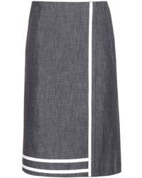 Victoria Beckham Denim Skirt - Lyst