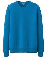 Uniqlo Men Cashmere Crew Neck Sweater - Lyst