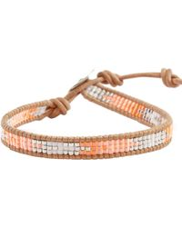 Chan Luu - Orange Mix Single Wrap Bracelet - Lyst