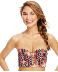 Volcom Printed Bustier Bikini Top - Lyst