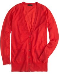 J.Crew Classic Merino Wool Long Cardigan - Lyst