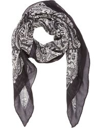 Saint Laurent Paisley Square Scarf - Lyst