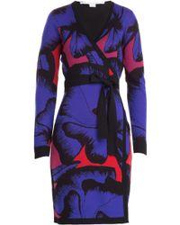 Diane von Furstenberg Leandra Wool Wrap Dress - Lyst