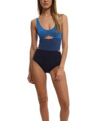 Bec & Bridge | Blue Cut-out Body Suit | Lyst