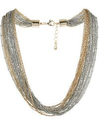 Topshop Fine Chain Multi Row Necklace - Lyst