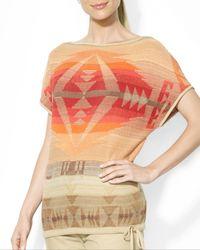 Ralph Lauren Tribal Knit Top - Lyst