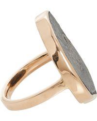 Dezso by Sara Beltran - Black Ammonite  Rose Gold Ring - Lyst