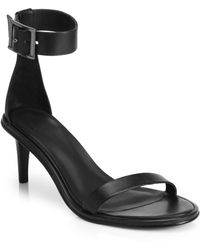 Tibi Ivy Leather Anklestrap Sandals - Lyst