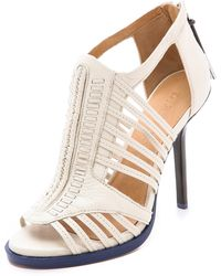 L.a.m.b. Kamy Caged Sandals - Ice - Lyst
