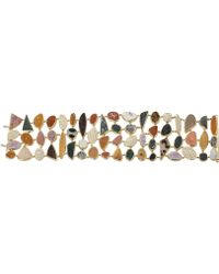 Pamela Huizenga | Druzy Agate Multi Row Bracelet | Lyst