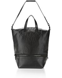 Alexander Wang Explorer Tote in Shiny Black with Matte Black - Lyst