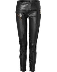 Just Cavalli Leather Skinny Pants - Lyst
