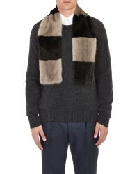 Marc Jacobs - Mixed-Stripe Fur Scarf - Lyst