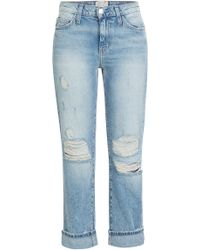 Current/Elliott High-Waisted Cropped Jeans - Lyst