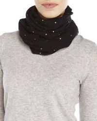 Forte - Cashmere Stud Loop Infinity Scarf - Lyst