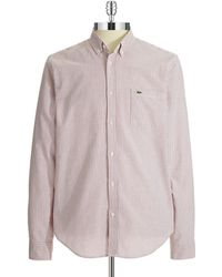 Lacoste Striped Sport Shirt - Lyst