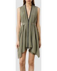 AllSaints Lewis Li Dress - Lyst