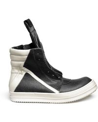 Rick Owens 'Geobasket' Leather High Top Sneakers - Lyst