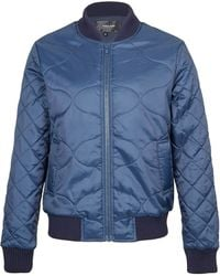 Villain - Quilted Bomber Jacket - Lyst
