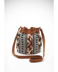 Forever 21 Southwestern-Patterned Bucket Bag - Lyst