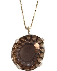 Meredith Marks - Elise Necklace With Smokey Quartz - Lyst