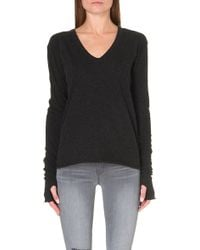 Enza Costa Thumbholedetail Knitted Jumper Grey - Lyst