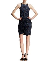Lanvin Bowwaist Liquid Jacquard Dress - Lyst