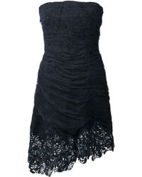 Nina Ricci Strapless Lace Dress - Lyst