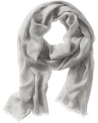 Banana Republic Colorblock Scarf Grey Heather - Lyst
