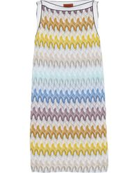 Missoni Crochetknit Mini Dress - Lyst