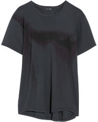 Theyskens' Theory Caya Printed Cotton Jersey T-Shirt - Lyst
