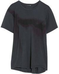 Theyskens' Theory Caya Printed Cotton Jersey T-Shirt - Lyst