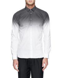 Neil Barrett Ombré Cotton Poplin Shirt - Lyst