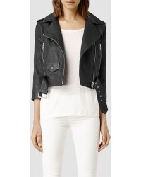 AllSaints Brooklyn Leather Biker Jacket - Lyst