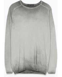 Zara Tie-Dye Sweater gray - Lyst