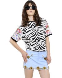 Emanuel Ungaro Printed  Waxed Cotton T-shirt - Lyst