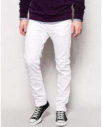 Diesel Jeans Sleenker 830G Skinny Fit White Wash - Lyst
