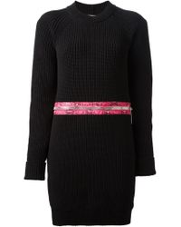 Christopher Kane Zip Detailed Sweater Dress - Lyst