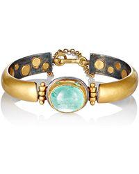Judy Geib - Women's Colombian-emerald-cabochon Bracelet - Lyst