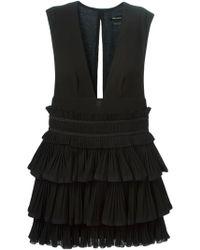 Isabel Marant Plunging Neck Dress black - Lyst