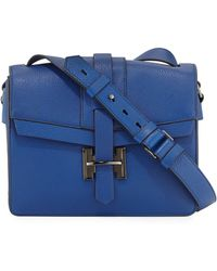 Halston Heritage Medium Flap Leather Shoulder Bag - Lyst