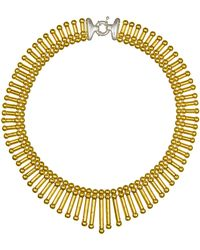 Giles & Brother Tribal Fringe Necklace gold - Lyst