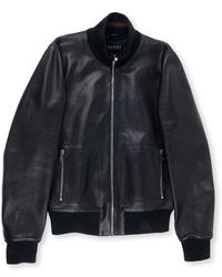 Gucci Black Leather Jacket - Lyst