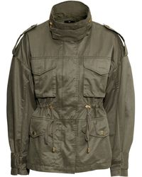 H&M Cargo Jacket khaki - Lyst