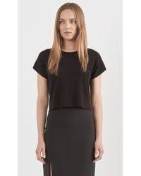 Theory Seblyn Cropped T-Shirt black - Lyst