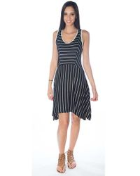 Capote Clothing Capote Pinstripe Dress white - Lyst