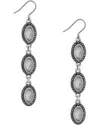 Lucky Brand - Modern Shine Triple Oval Quartz Earrings - Lyst