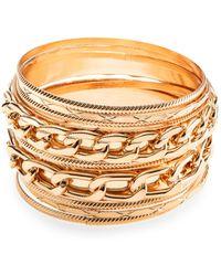 Cara Couture - Multi Bangle Bracelet Set/gold - Lyst