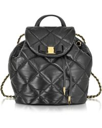 Ferragamo - Quilted Giuliette Nappa Leather Backpack - Lyst